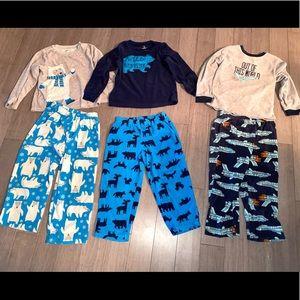 3 size 5 fleece Carter's pajamas